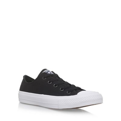 Black 'Ctas II Low' flat lace up sneakers