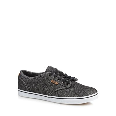 Black 'Atwood' canvas trainers