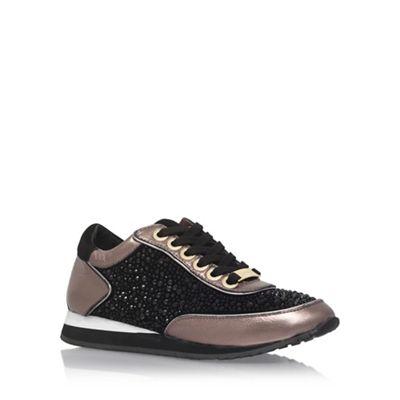 Black 'Lemmy' Flat Lace Up Sneaker