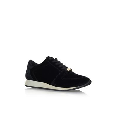 Black 'Languid' Flat Lace Up Sneaker