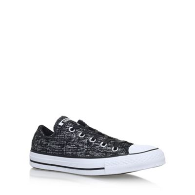 Black 'Ct Sparkleknit Low' flat lace up sneakers
