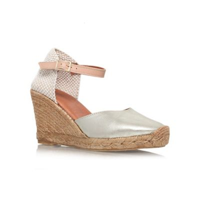 Beige 'Monty' high heel wedges