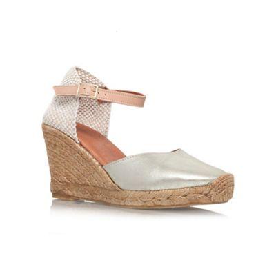 Beige 'Monty' high heel wedges