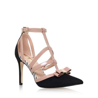 Black 'Chyna' high heel sandals