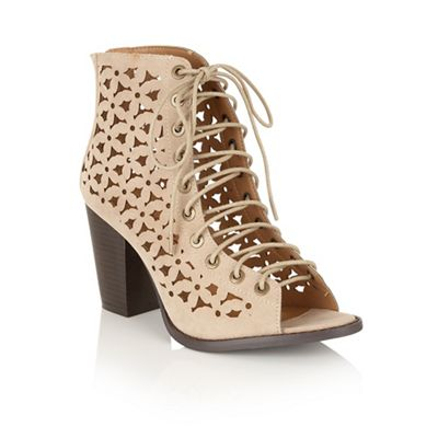 Beige 'Alain' ankle boots