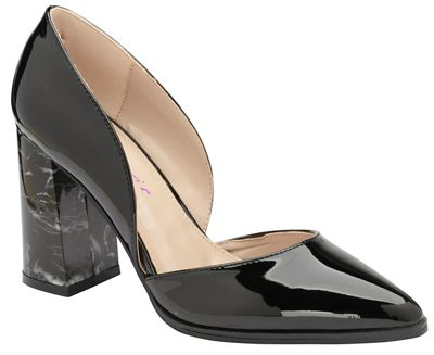 Black 'Bertina' high block heeled shoes