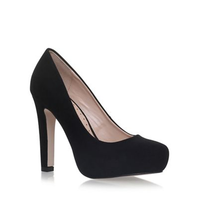Black 'Annie' high heel court shoes