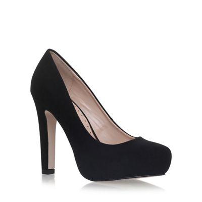 Black 'Annie' high heel court shoes