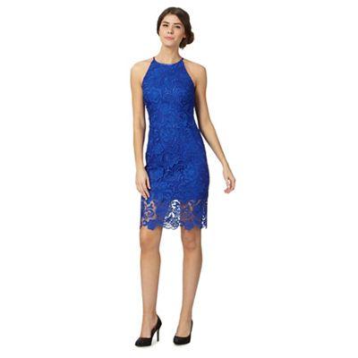 Bright blue lace dress