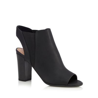 Black 'Caduwia' peep toe heels shoes