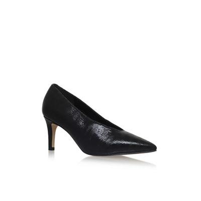 Black 'Autobann' high heel court shoes