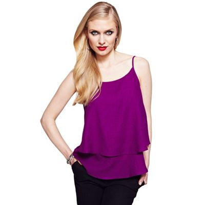 Berry double layered camisole top
