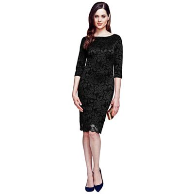 Black long sleeved lace dress with ThinHeat