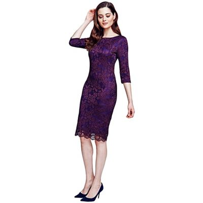 Purple long sleeved lace dress with ThinHeat