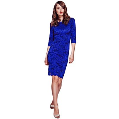 Midnight blue lace dress with ThinHeat