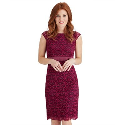 Purple luscious lace dress