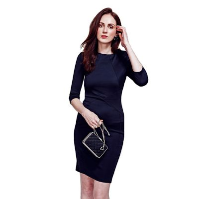 Black Pimlico Ponte Dress