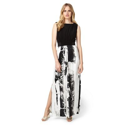 Black And Multi Claireen Printed Maxi Dress