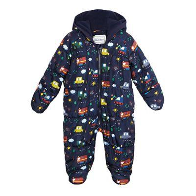 e9b82121f bluezoo Baby boys' navy transport print snowsuit