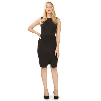 Black pinstripe dress