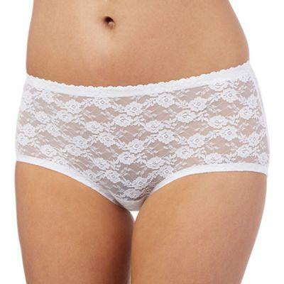 Debenhams White lace short briefs