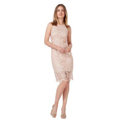Light pink lace shift plus size dress