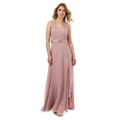 Light pink waterfall maxi dress