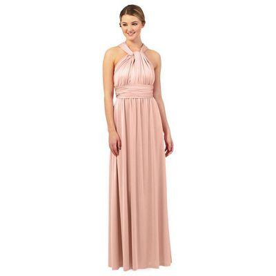 Light pink multiway evening dress