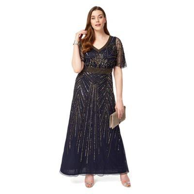Sizes 12-26 Navy harmony dress