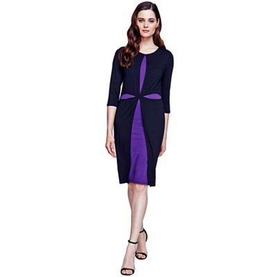 Black and purple double layered cross dress