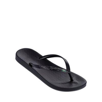 'Beach' black flip flop