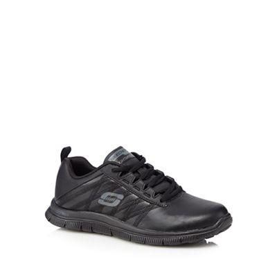 Black 'Flex Flex Appeal' leather blend trainers