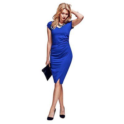 Royal Blue Raglan Sleeve Dress in clever fabric