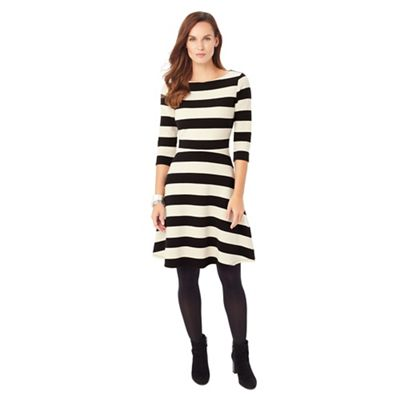 (W) Stripe Ottoman Dress
