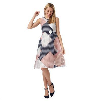 Pink striped prom petite dress