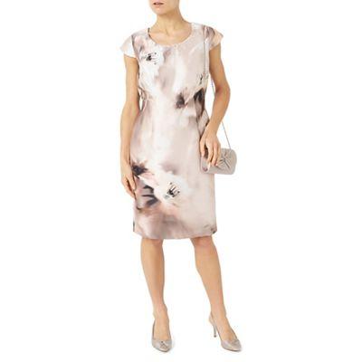 Petite printed santung Dress
