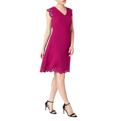 Arlia Scallop Cutwork Dress