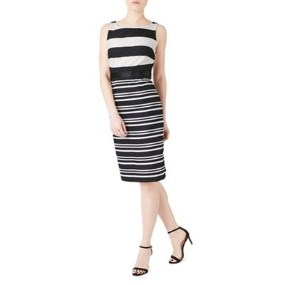 Black josie stripe shift dress