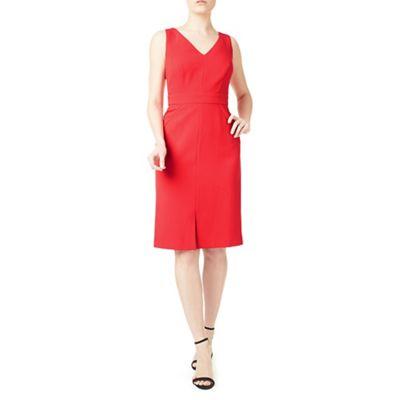 Lianna coral shift dress