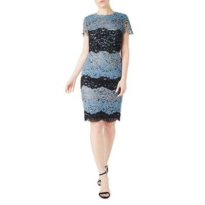 Multicoloured cady stripe lace dress