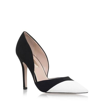 Black 'Caitlyn' high heel court shoes
