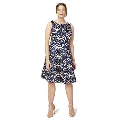 Sizes 12-26 Navy raquel dress