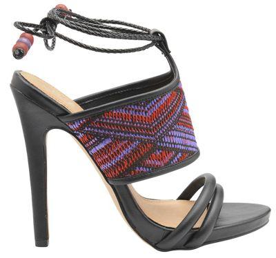 Black 'Chelan' ladies high heeled open toe sandals
