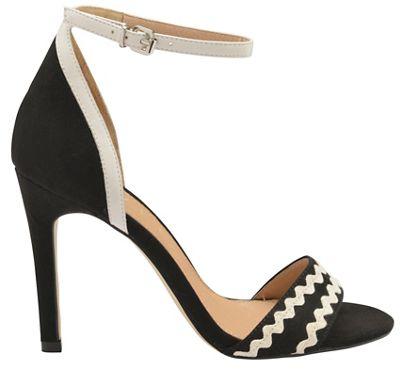 Black 'Berkley' ladies stiletto heeled sandals