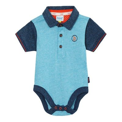497bf3be4ba1cd Baker by Ted Baker Baby boys  blue polo collar bodysuit