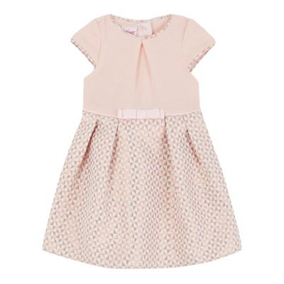 d02b8028dc0fe Baker by Ted Baker Baby girls  pink textured square dress