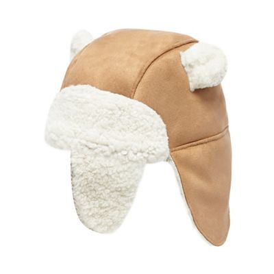 Baby boys  beige borg lined trapper hat dd864d6d972