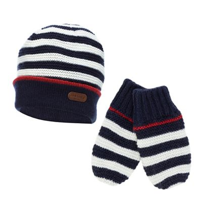 5815be41d2b Baby boys  striped knitted hat and mittens