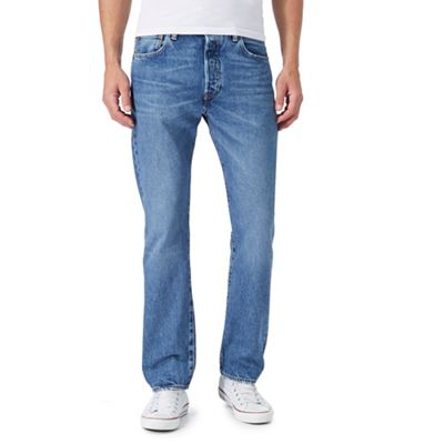 '501' blue light washed straight leg jeans
