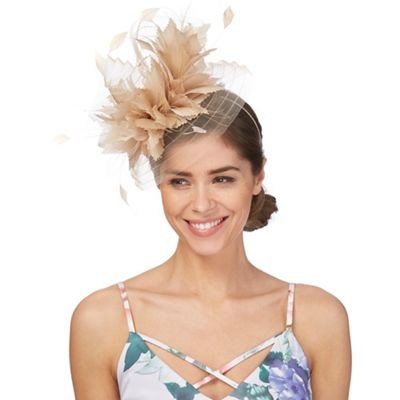 Natural large feather fascinator 502c031fec6